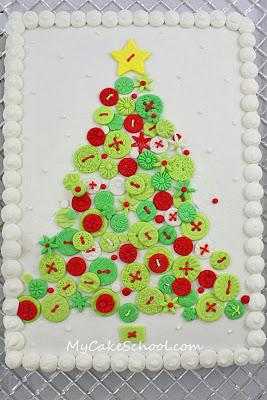 Árvore de Natal de Botão